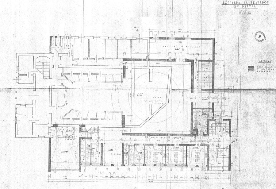 Проект за реконструкција на зградата на Народен театар Битола со значително поголеми димензии