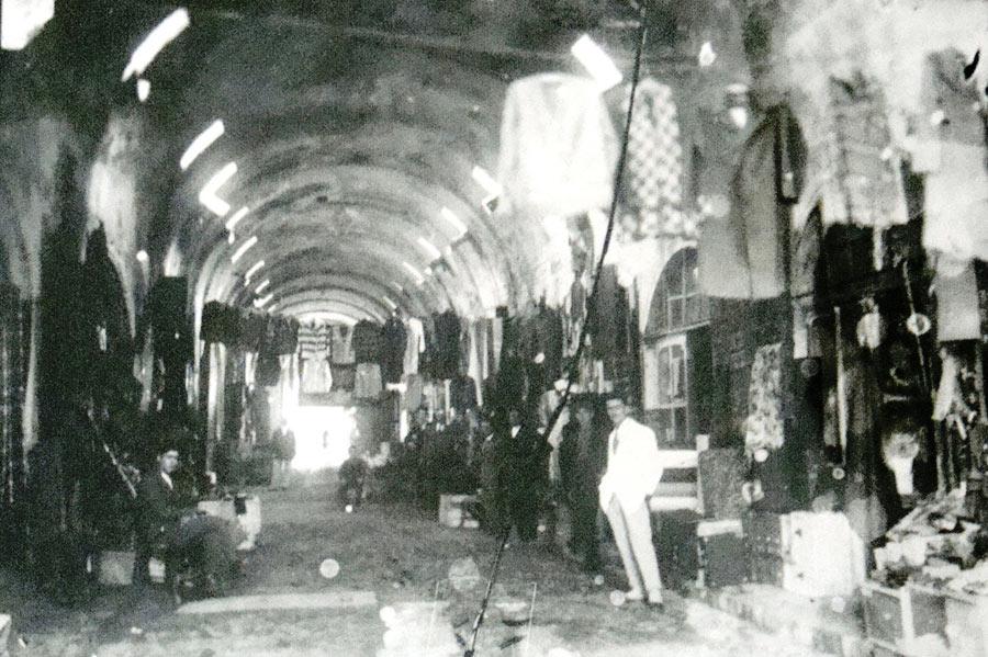 Внатрешноста на Безистенот фотографирано во почетокот на XX век