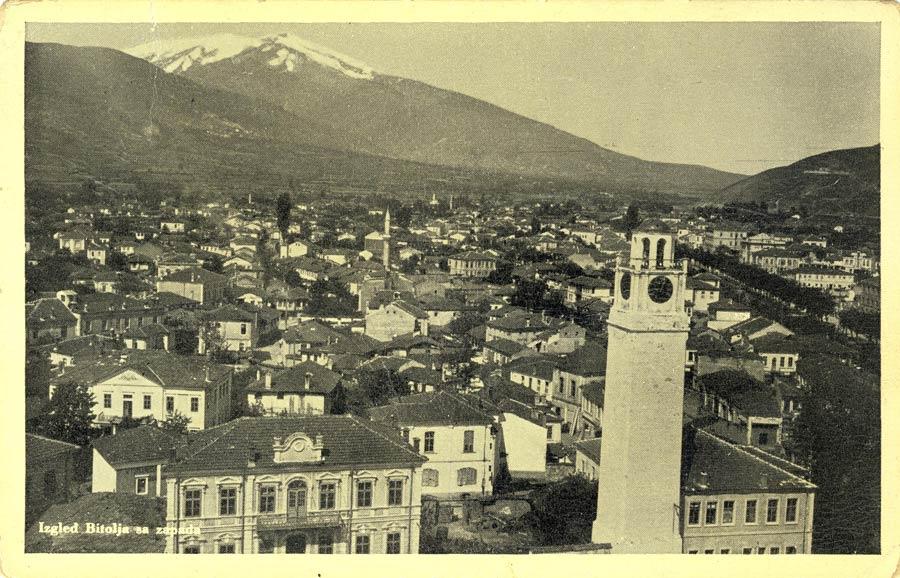 Панорама на Битола со Саат-кулата во 1937 г