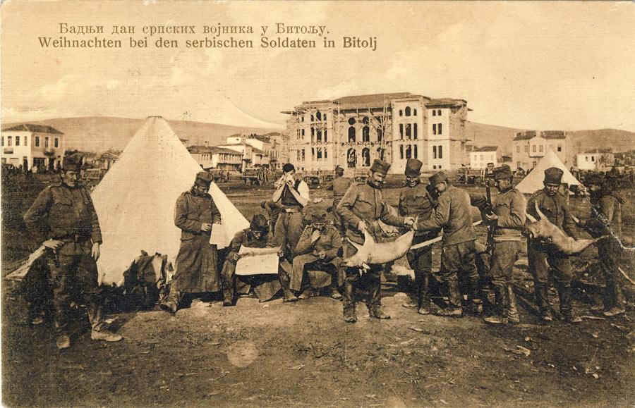 Српски војници фотографирани во близина на Офицерски, 1913 г